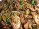 Постная начинка для пирожков или пирогов из жареных грибов