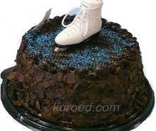 Шоколадный торт вместе с шоколадным кремом