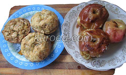 Бабка из мацы и печеные яблоки
