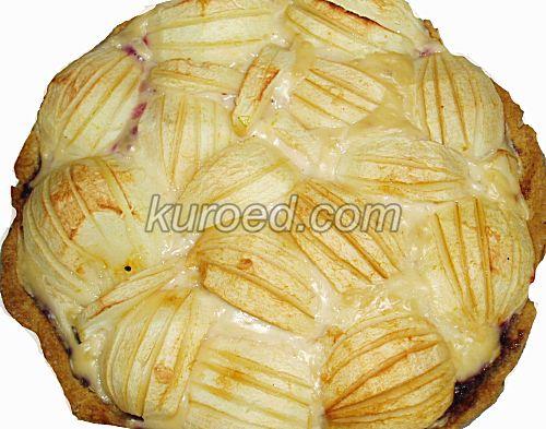 Эльзасский яблочный пирог с ванильным кремом