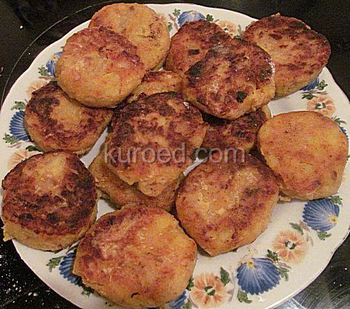 жареная картошка с котлетами рецепт