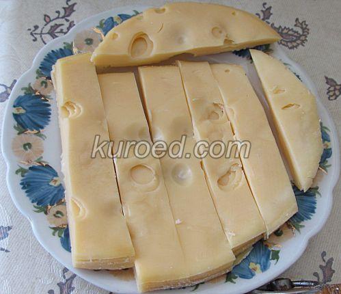 Картофельные пирожки с сыром, пошаговое приготовление - Нарезать сыр