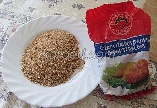 Картофельные пирожки с сыром, пошаговое приготовление - обвалять в сухарях