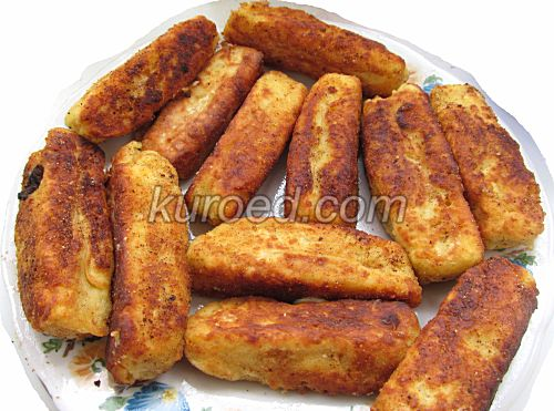 Картофельные пирожки с сыром, пошаговое приготовление - поджарить до золотистого цвета