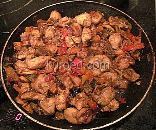 Рецепт курица с баклажанами и помидорами картошкой