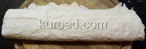 Бутерброды из лаваша, пошаговое приготовление  - свернуть рулетом
