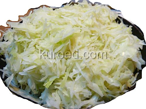 Пирог с капустой и яйцами, пошаговое приготовление - капусту отжать