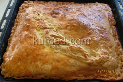 пирог с зеленым луком и яйцом в духовке