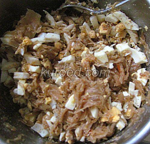 Пирожки с капустой и яйцами, пошаговое приготовление - приготовить начинку