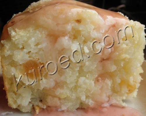 Диетический рисовый пудинг с малиновым киселем
