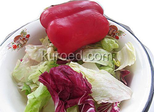 Салат из капусты с перцем, пошаговое приготовление - Вымыть овощи