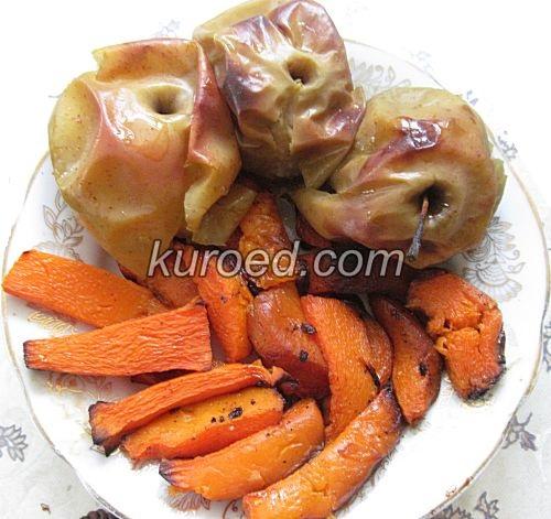 Салат из тыквы и свеклы, пошаговое приготовление - испечь тыкву