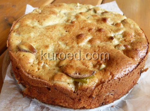 Шарлотка с яблоками со сметаной в духовке пошаговый рецепт
