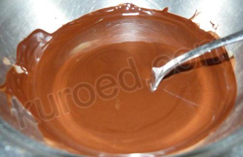 Шоколадный торт без муки, пошаговое приготовление - растопить шоколад