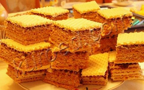 вафли рулеты рецепт торта