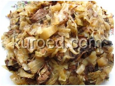 Омлет с капустой и сосисками – кулинарный рецепт