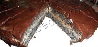 Маковый бисквит с шоколадом