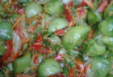 заготовка салата из зеленых помидор рецепты