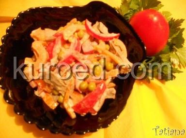 """Салат с языком """"Изысканный"""" – кулинарный рецепт"""