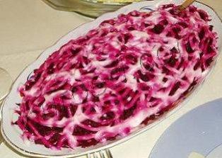 Рецепт салат редька мясо лук