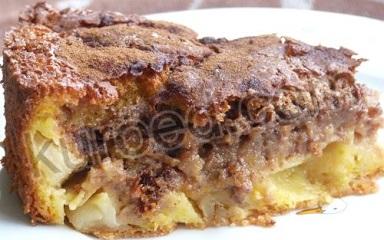Тыквенно-яблочная шарлотка  с мороженым