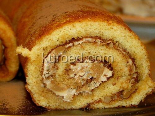 рецепт рулета бисквитный из меда