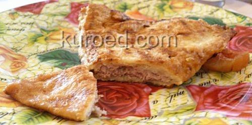 Блинчики с мясом, запеченные в духовке