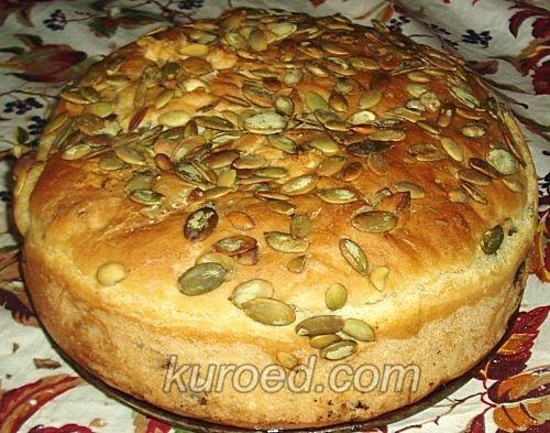 Хлеб с укропом, медом т тыквенными семечками