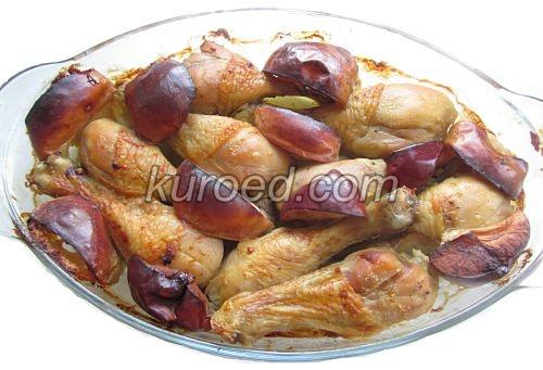 Куриные ножки с яблоками