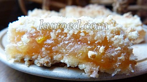 Ленивый лимонный тертый пирог