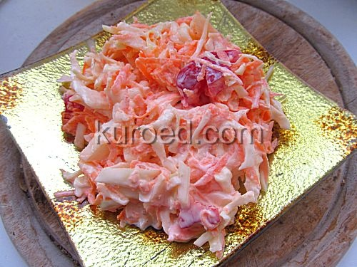 Морковный салат с кукурузой – кулинарный рецепт