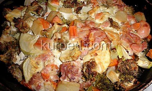 Овощное рагу запеченное в духовке рецепт с фото