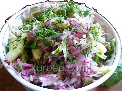 Cалат из свежих овощей