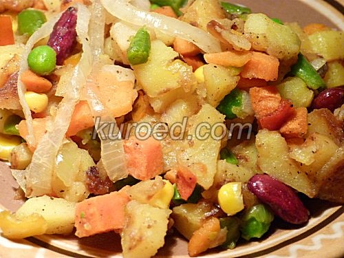 Зимнее овощное рагу